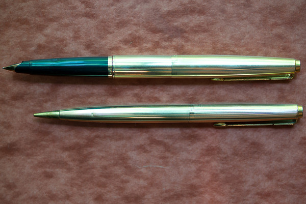 Parker 45 Signet pen and pencil—uncapped pen