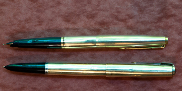 Parker 45 Signet (top) compared to a Parker 51 Signet
